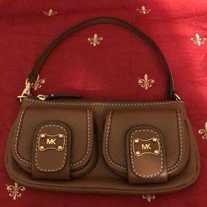 Michael Kors Brown Leather Wristlet/Handbag